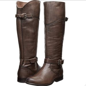 Frye Phillip tall distressed leather riding boots
